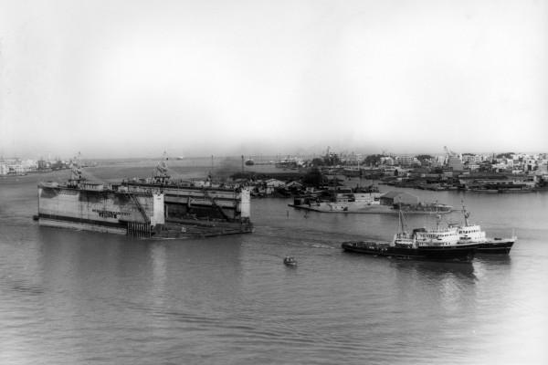 Elbe + Mounir met LaSpezia dok @Port Said 1965